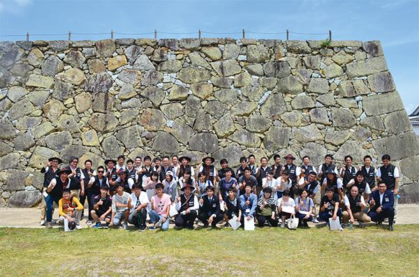 津山城の石垣刻印パンフレット アンケート