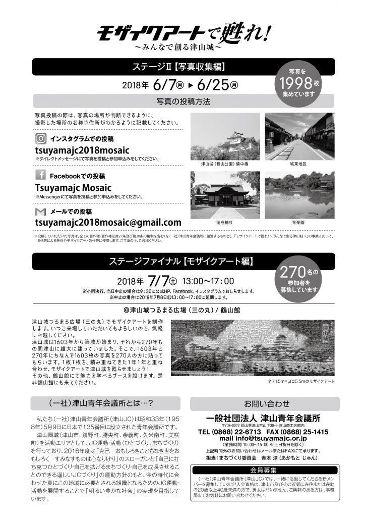 モザイクアートで甦れ!~みんなで創る津山城~ ステージⅠ(学び編・探索編) お申込みフォーム