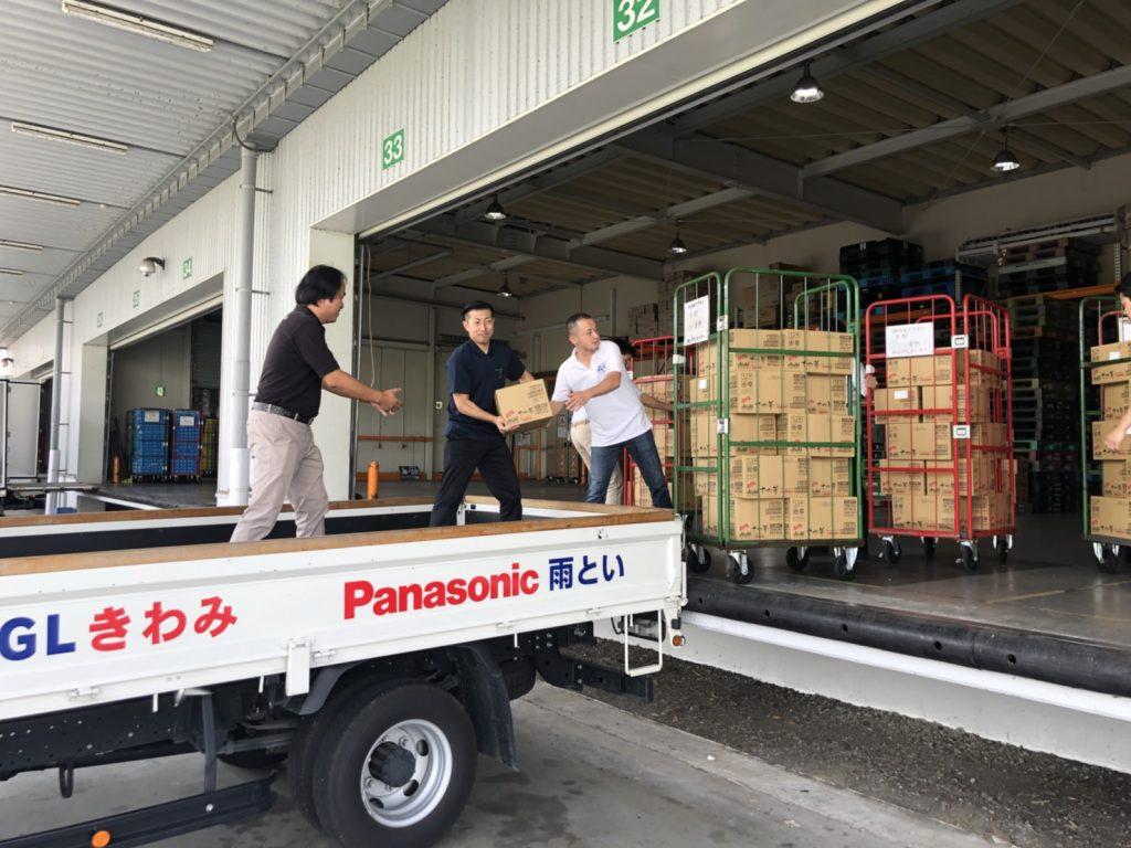 大雨災害に対する支援作業